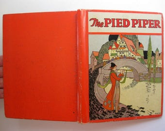 Vintage The Pied Piper, Rand McNally, Edition 1935, Beautifully Illustrated