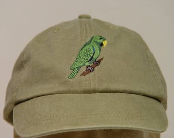 ECLECTUS PARROT BIRD Hat  - One Embroidered Wildlife Cap - Price Embroidery Apparel - 24 Color Caps Available