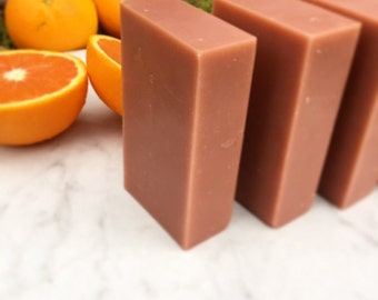 Citrus Carnation Silk Soap, Botanical Rose Clay, Handmade Cold Process Soap, a mild conditioning bar with luxurious lather