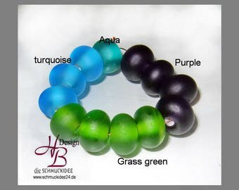 10 Spacer diffrent Color, Beadset, SRA #B131,colorful beads set, Lampwork, Murano