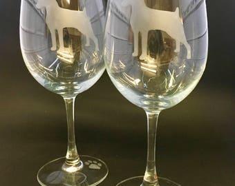 Miniature Pinscher Wine Glasses (set of 2)