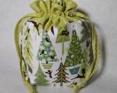 Trees and Bambi Large Drawstring Bag