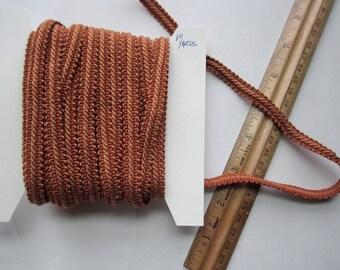 "10 yards rust orange brown fancy layered braided twist ribbon trim 3/8""  10mm wide"