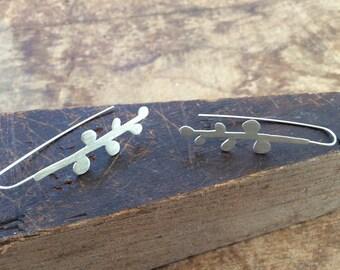 Sterling Silver Berry Earrings