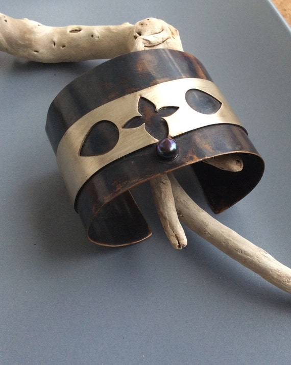 Silhouette Sterling Silver and Copper Cuff Bracelet