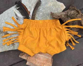 Fringe Shorts - Mustard