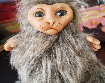 OOAK Creature Art Doll Monkey Japanese Macaque