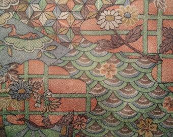Kimono Silk Colorful Patchwork
