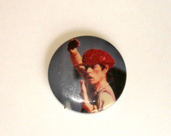 vintage MICK JAGGER Rolling Stones 1980s rock and roll pin