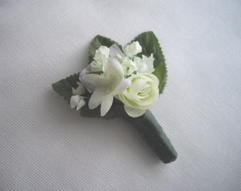 Keepsake Bouttoniere Groom Prom Special Occasion Stephanotis Whimsical Party Blower As Seen At Martha Stewart Wedding Party handcraftusa