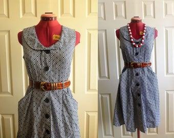 floral peter pan collar short sleeve dress. Mlle Gabrielle.
