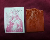 Blessed Virgin Mary / Catholic Saint / Sacred Heart / Scapular / Unmounted Rubber Stamp