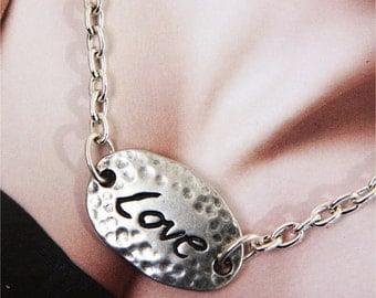 Stjern Design Love Sign Necklace Inscription Jewelry Inspirational jewelry Personalized Jewelry Gift for Her