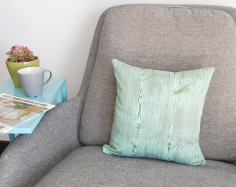 Aqua Wood Grain Pillow Case