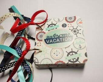 Vacation Mini Album, Cruise Mini Album, Premade Album, Chipboard Album, Vacation Brag Book, Vacation Scrapbook, Cruise Vacation, Photo Album