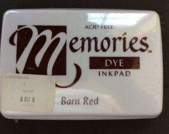 Memories Dye Inkpad Barn Red