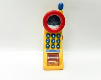 1990s toy cell phone - primary colors