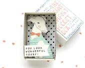 De Instant Comfort Pocket Box - greyhound hond - je ziet er geweldig vandaag! -cheer doos - motiverende kaart