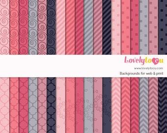 Digital paper backgrounds, seamless pattern backdrop, basic pattern design (LP005 C)