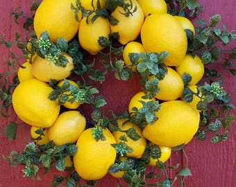 Lemon Tart Wreath....Small Lemon Wreath...