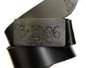 steel or iron anniversary gift  - 11th or 6th anniversary - steel belt buckle - hand forged -