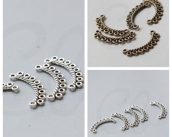 10pcs Antique Tone Earring Findings - 8 to 2 component - 30x13mm (36363Y)(V-87B)(V-133S)