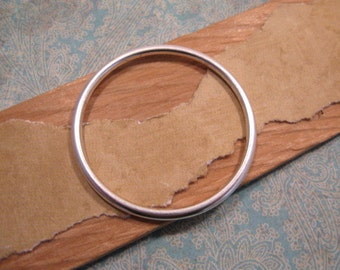 Large Open Frame Hoop in Antique Silver by Nunn Design