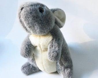SALE Bunny Stuffed Animal Easter Bunny Plush Soft Bunny Rabbit Grey Rabbit Vintage Rabbit
