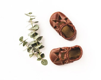 Cognac  Sunrise SANDALS   Soft Soled Leather Shoes Baby and Toddler Free Shipping in US