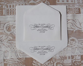 Letterpress Envelope Printing DEPOSIT, Letterpress Return Address Printing, Letterpress Reply Address Printing, Custom Envelope Printing