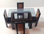 Miniature Contemporary Dining Room Set with Table and Four Chairs Reserved for The Jan