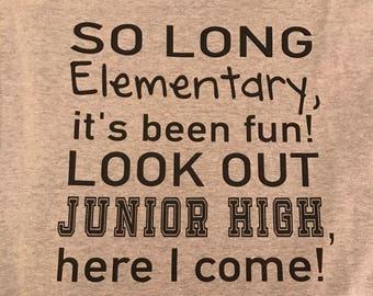 So long school Tshirt