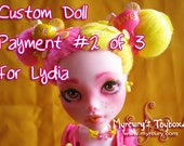 PRIVATE LISTING for Lydia - ~*Zestie*~ - Custom Monster High Draculaura Doll as Pink Lemonade Cutie!! Payment 2 of 3