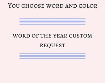Custom Request - Word of the Year - Postcard with envelope
