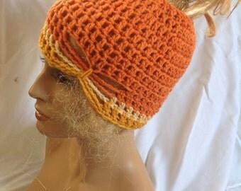 SALE - Funfetti Butterfly Top knot/Messy Bun Hat