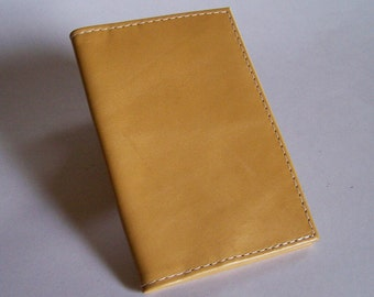 Yellow Distressed Leather Passport Cover Wallet - For U.S. and Canada Passports