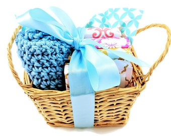 Vegan gift basket etsy soap gift basket mothers day gift birthday gift 4 soap sampler gift basket negle Gallery