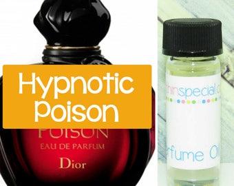 Hypnotic Poison Perfume Oil Sample, Hypnotic Poison Perfume, Almond, Caraway Spice, Sambac Jasmine, Jacarandra, Vanilla, Musk, Cedar