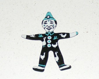 Vintage Cracker Jack Tin Litho Clown  in Bird Suit Prize Premium