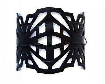 Crystalline Recycled Inner Tube Bracelet