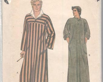 Vogue 7255 1970s Mens EAsY Pullover CAFTaN Pattern Adult Vintage Sewing Pattern Size Medium Chest 38 40 or Small Chest 34 36 or Large