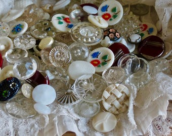 Lovely Vintage Glass Button Lot