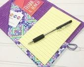 Mini Shopper - Notepad holder List taker - Stained glass - violet