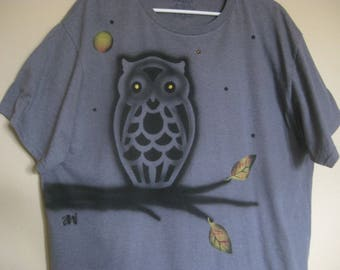 Airbrushed OWL Short Sleeve T-Shirt