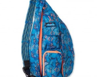Monogrammed Kavu Rope Bags - Electric Lily - Great gift for College, Teens, Women, Outdoors Satchel Crossbody Tote