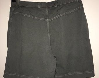 vtg Escada shorts grey stretch Margaretha Ley