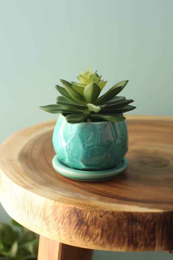 faceted succulent planter