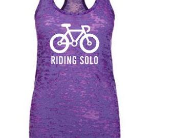Riding solo biker cyclist