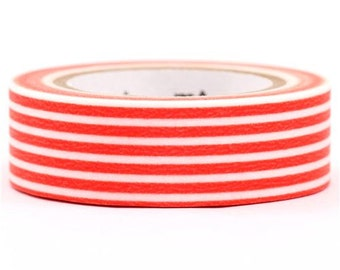 189760 mt Washi Masking Tape deco tape orange stripes
