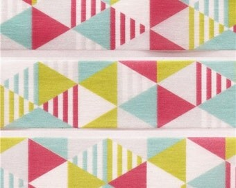 198404 mt Washi Masking Tape deco tape triangles stripes pink green blue